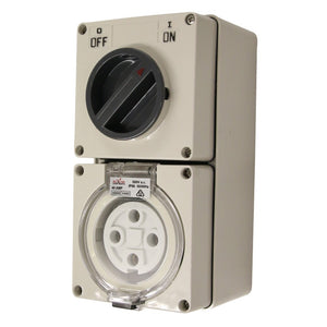 4PIN 40AMP - Combination Switched Socket Outlet