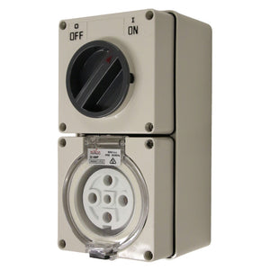 5PIN 32AMP - Combination Switched Socket Outlet