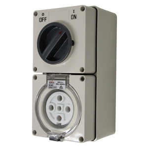 5PIN 40AMP - Combination Switched Socket Outlet