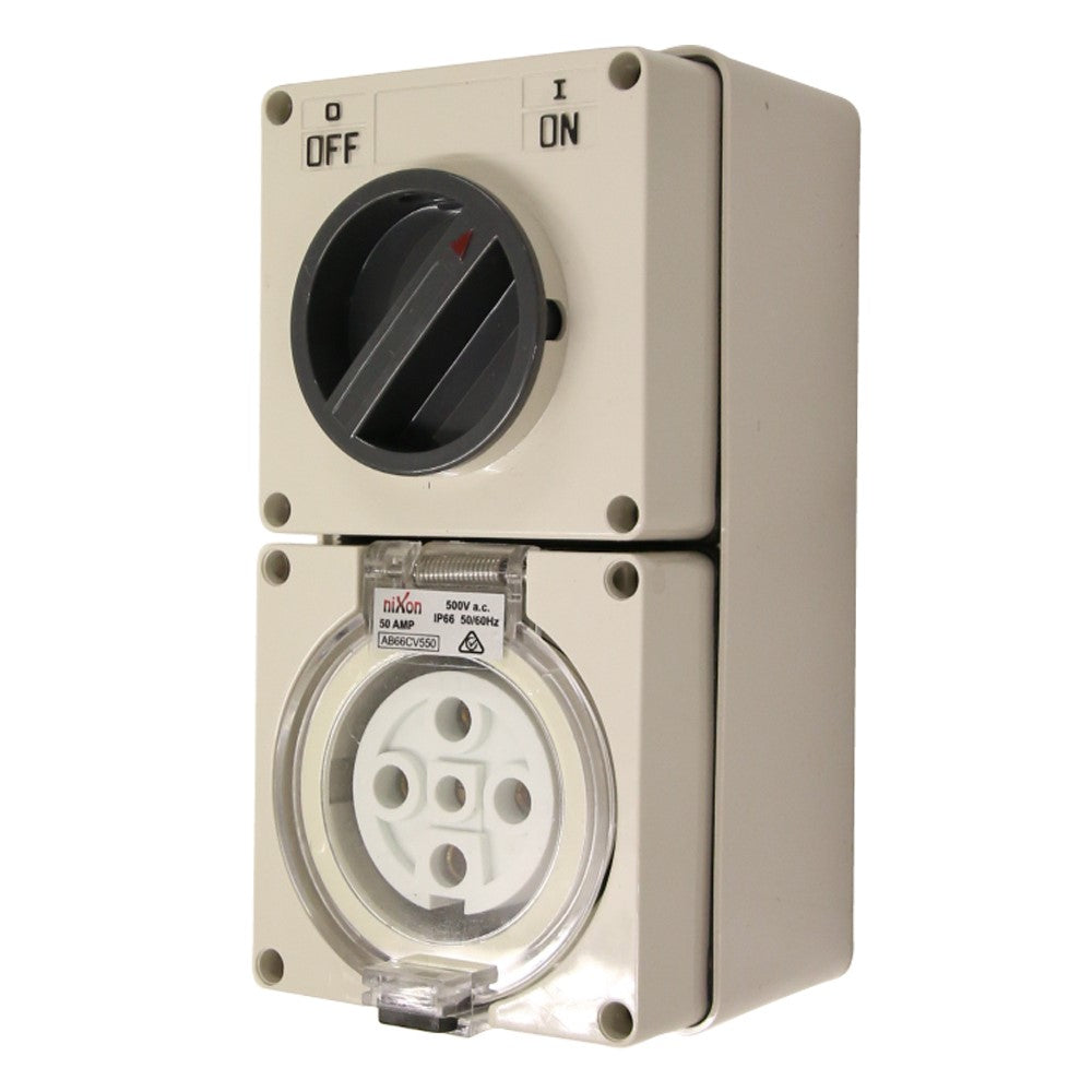 5PIN 50AMP - Combination Switched Socket Outlet