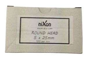 5mm x 25mm Round Head - Nylon Anchor - 250 Pack