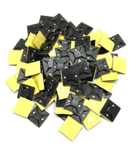 30mm x 30mm Square Cable Tie Mounts - 100 Pack