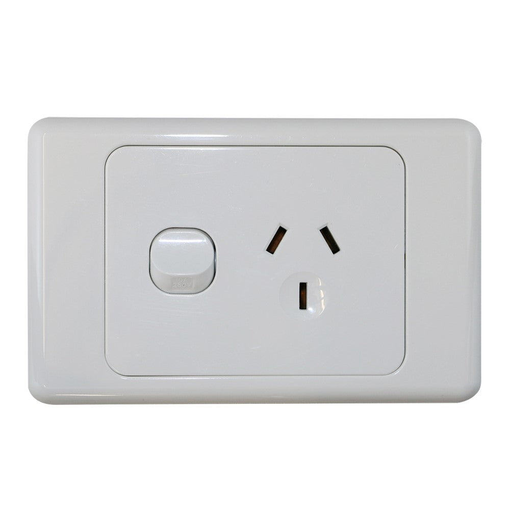Single 10Amp Powerpoint / GPO Outlet