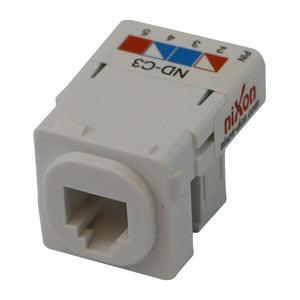 RJ11 - Cat 3 Phone Jack Punch Down Style