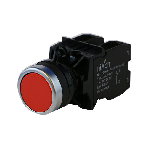 Red Push Button - 22mm
