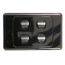 Load image into Gallery viewer, 4 Gang - Wall Switch - Black