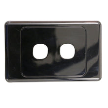 Load image into Gallery viewer, 2 Gang - Wall Plate - Black