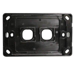 2 Gang - Wall Plate - Black