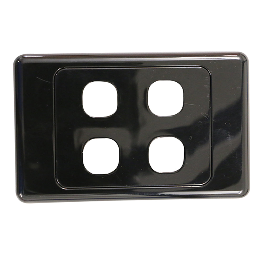 4 Gang - Wall Plate - Black