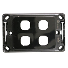 Load image into Gallery viewer, 4 Gang - Wall Plate - Black