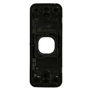 1 Gang Architrave - Wall Plate - Black