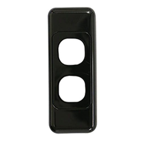 2 Gang Architrave - Wall Plate - Black