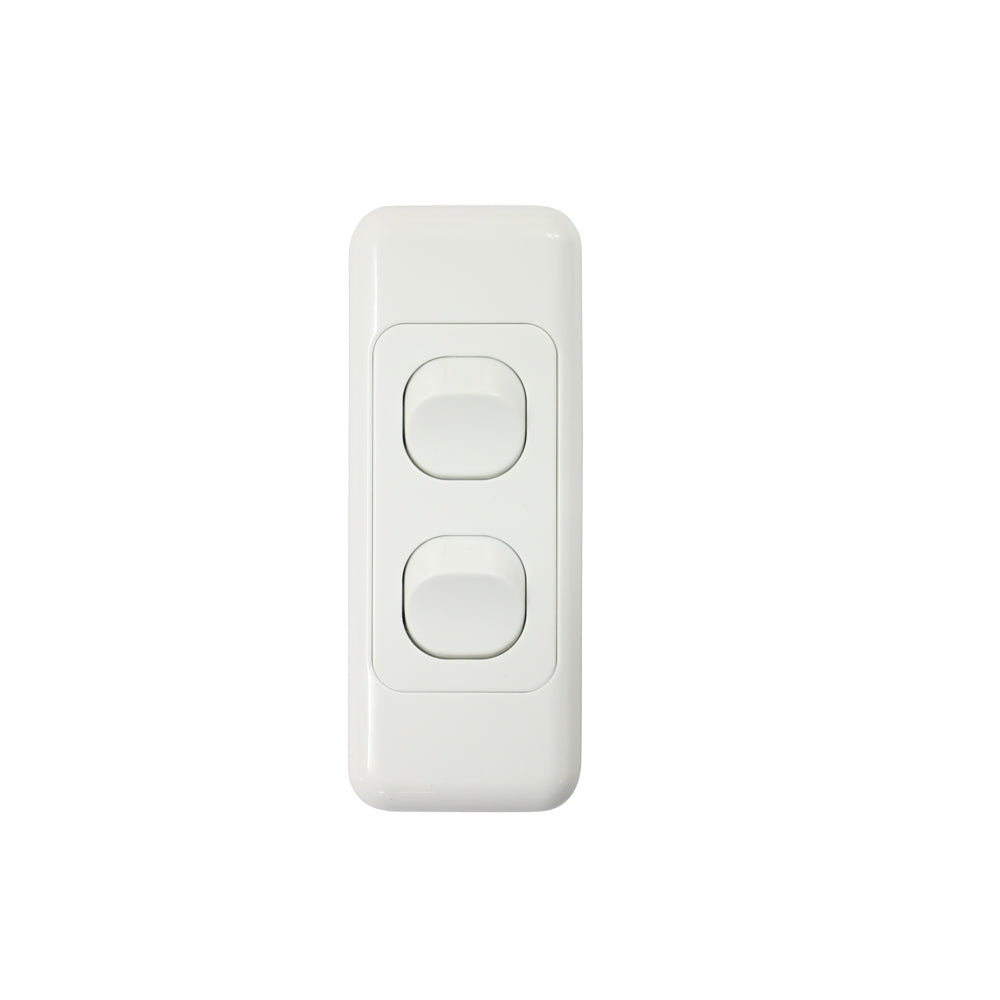 2 Gang  - Architrave Switch