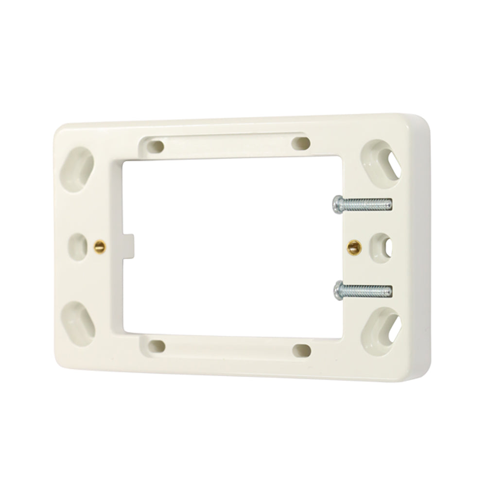 16mm Shallow Mounting Block - White