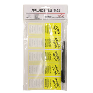 Yellow Test Tags - 100 Pack