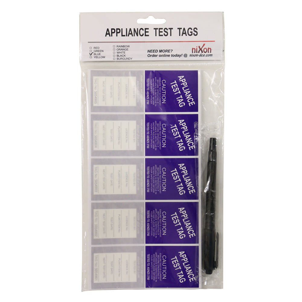 Blue Test Tags - 100 Pack