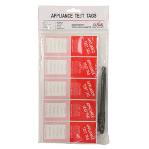 Red Test Tags - 100 Pack