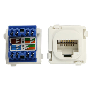 RJ45 - Cat 6 Data Jack - White