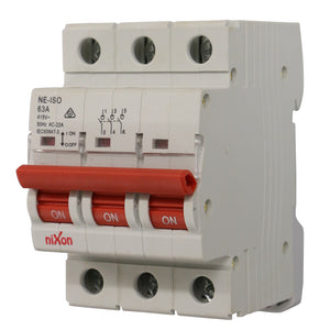 63AMP - 3 Pole Isolator