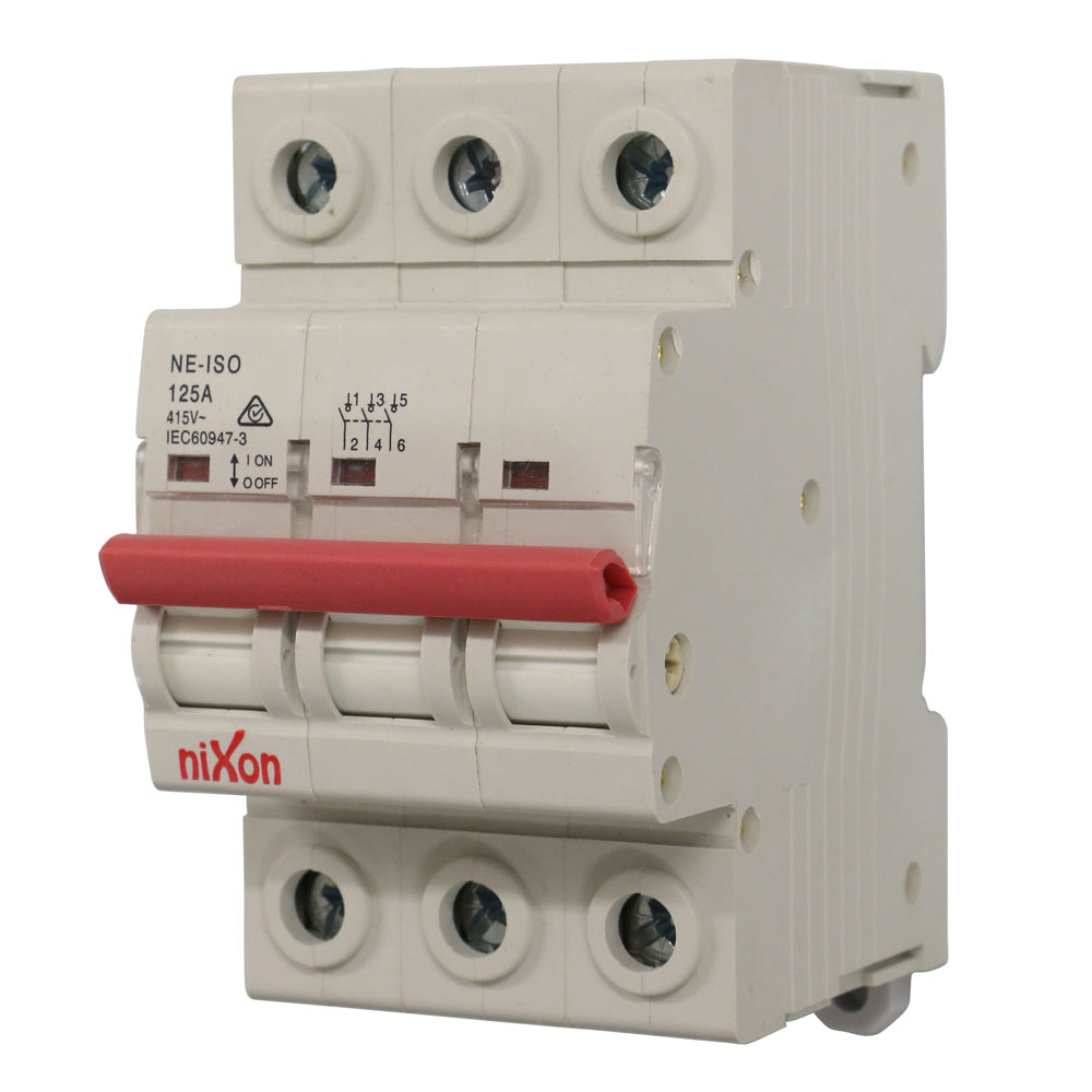 125AMP - 3 Pole Isolator
