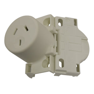 10AMP - Single Super Quick Plug Base - White
