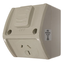 Load image into Gallery viewer, 15AMP - Mini Single Weatherproof Outlet - IP53