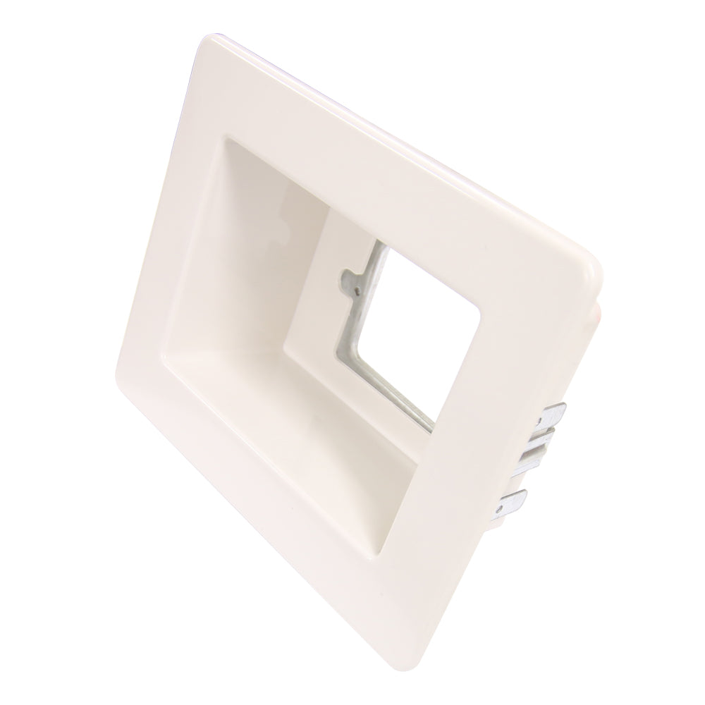 Flush Box Kit - White Wall Box / Recessed Outlet