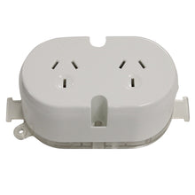 Load image into Gallery viewer, 10AMP - Double Plug Base - White
