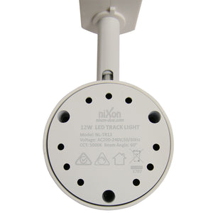 12W Track Light - White - 3000k Warm White - Dimmable