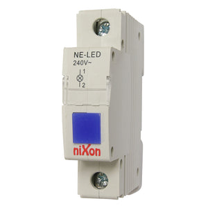 Blue Din Rail LED Neon Indicator