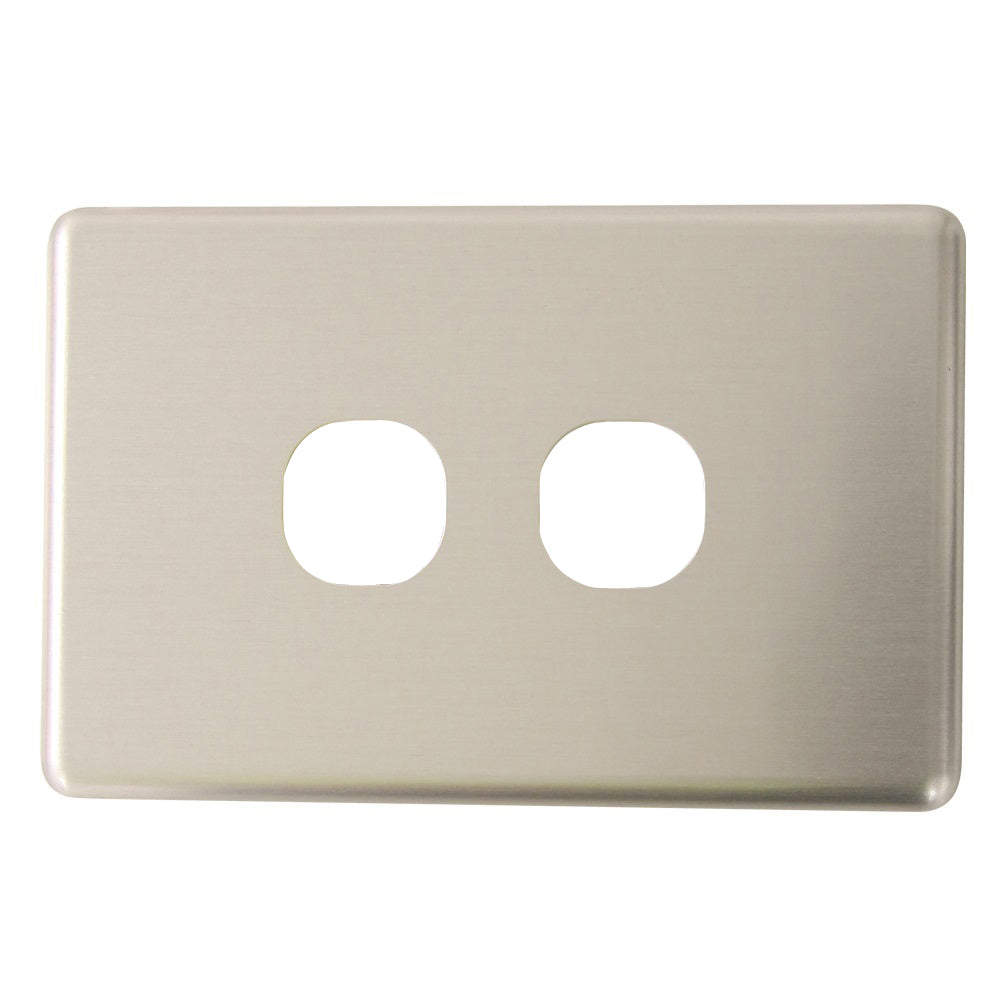 Classic 2 Gang - Brushed Aluminum Cover Plate