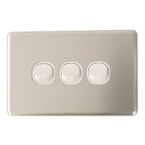 Classic 3 Gang - Brushed Aluminum Cover Plate