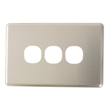 Load image into Gallery viewer, Classic 3 Gang - Brushed Aluminum Cover Plate