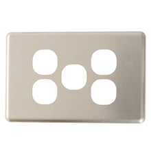 Load image into Gallery viewer, Classic 5 Gang - Brushed Aluminum Cover Plate