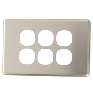 Classic 6 Gang - Brushed Aluminum Cover Plate