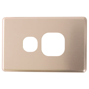 Classic Single Powerpoint - Brushed Aluminum Cover Plate