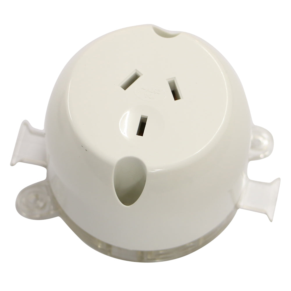 10AMP - Single Plug Base - White