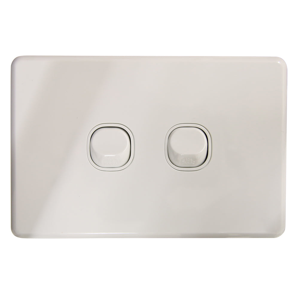 SLIM - 2 Gang Wall Switch