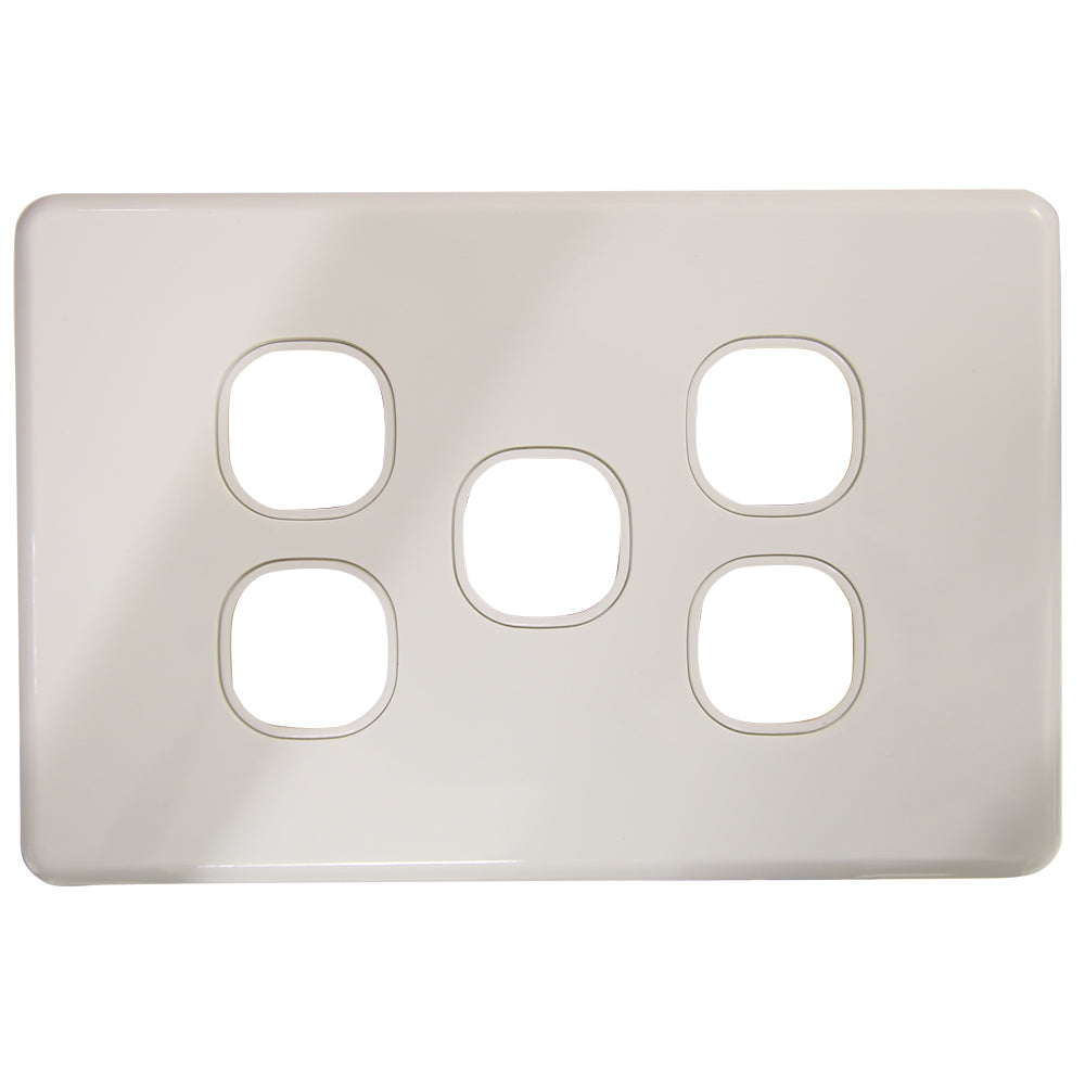 SLIM - 5 Gang Wall Plate