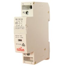Load image into Gallery viewer, 240Volt 20A 2Pole - 1NC + 1NO - Din Rail Contactor