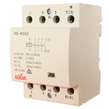 Load image into Gallery viewer, 63A 4Pole - Normally Open - Din Rail Contactor