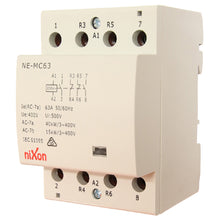 Load image into Gallery viewer, 63A 4Pole - 2NC + 2NO - DIN RAIL CONTACTOR