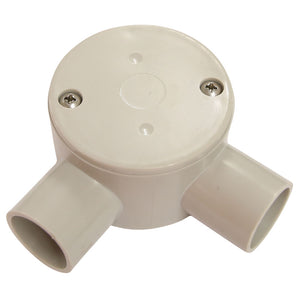 20mm - 2 Way RIGHT ANGLE Conduit Box (10 Pack)