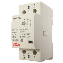 Load image into Gallery viewer, 63A 2Pole - 1NC + 1NO - DIN RAIL CONTACTOR
