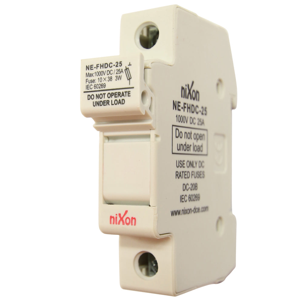 DC Fuse Holder - 25AMP - 1Pole - Din Rail