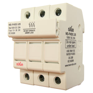 DC Fuse Holder - 25AMP - 3Pole - Din Rail