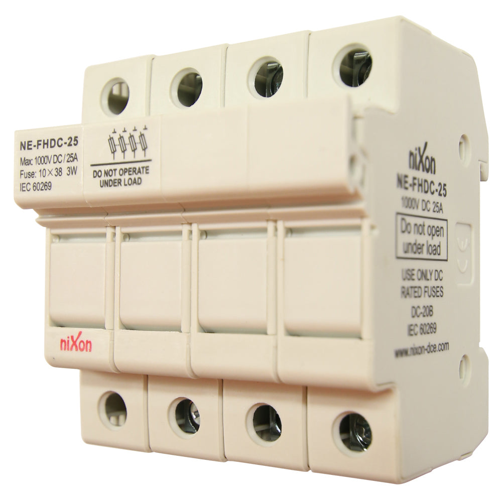 DC Fuse Holder - 25AMP - 4Pole - Din Rail