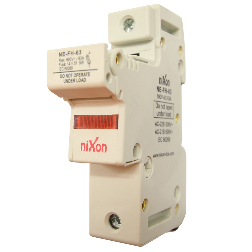 AC Fuse Holder - 63AMP - 1Pole - Din Rail