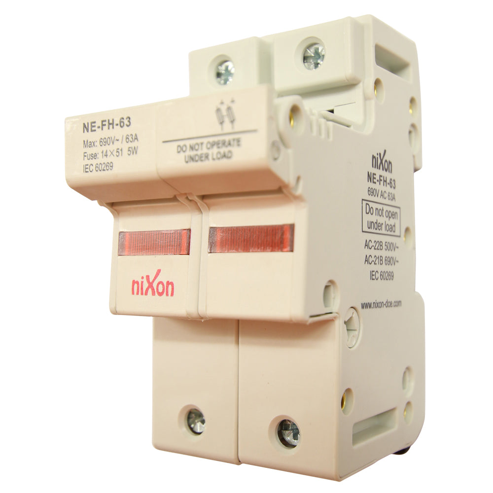 AC Fuse Holder - 63AMP - 2Pole - Din Rail