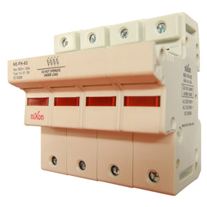 AC Fuse Holder - 63AMP - 4Pole - Din Rail